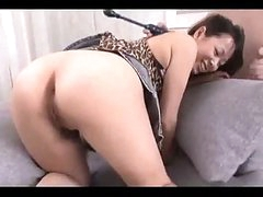 Busty Asian Girl Getting Her Hairy Pussy