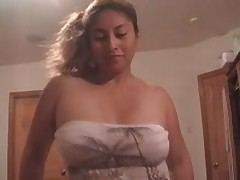 Latin sucker eats hot cum