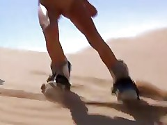 skating with naked body in desert is great fun