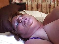 huge granny masturbating with a marital-device