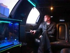 Hot gay encounter in driving limo