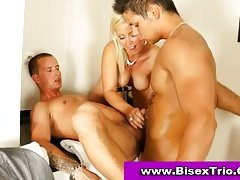 Bisexual trio sex