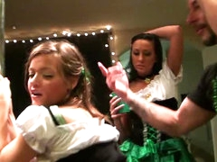 Ashlynn Leigh and Tiffany Brookes in St Patrick's Day Orgy
