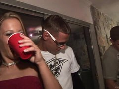 Drunk Babes Kara Tai and Tiffany Merlot Getting Fucked In College Party