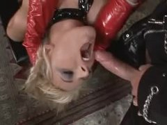 Kinky latex threesome with fantastic sluts